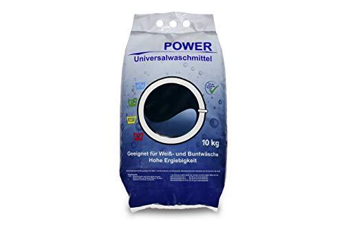 Power Universal Waschmittel 10 kg │Waschpulver für Weiß- und Buntwäsche │ Vollwaschmittel in der Großpackung │ geeignet für Color-Wäsche│ hohe Ergiebigkeit, Pulver reicht für ca. 154 Wäschen