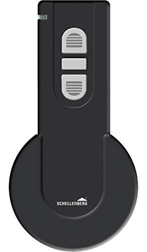 Schellenberg 20019 Smart Home Funk-Handsender 1-Kanal mit 868,4 MHz, schwarz – Fernbedienung Licht, Steckdose, Rolladensteuerung