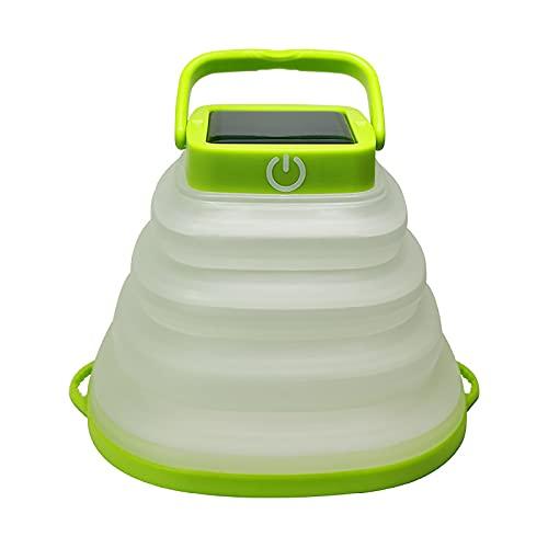 Reiei Linterna LED plegable para camping, 3 modos de atenuación, impermeable, recargable por USB, linterna de camping, plegable, plegable, para campamento, senderismo, pesca, emergencias