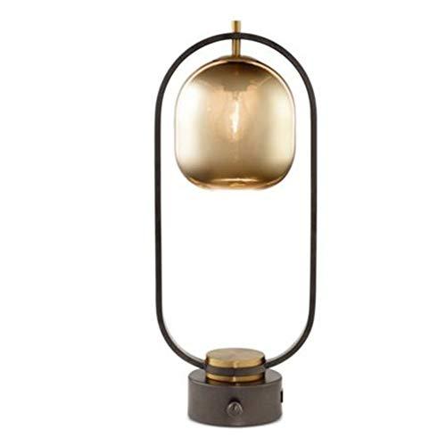 J.W. Glas Metall Schreibtisch Licht Nordische kreative Tischlampe E27 Transparenter Lampenschirm Schwarze Nachttischlampen Büro Schlafzimmer Bar Wohnzimmer Studie Hotel Innenbeleuchtung Dekoration