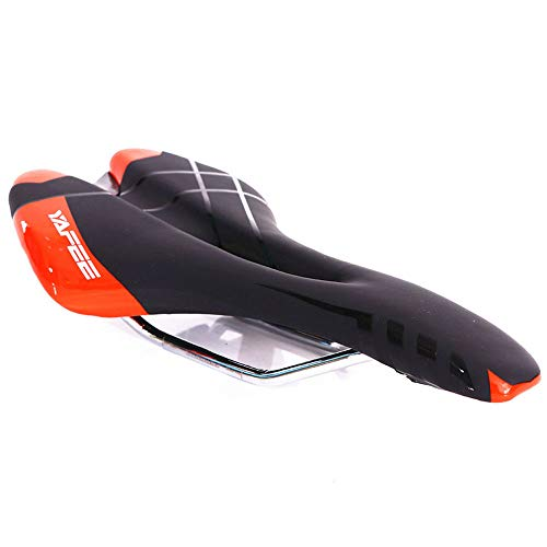 TLJF Sillines de Bicicleta Memoria de Espuma Acolchada sillín for Cruiser/Carretera/Bicicletas/Bicicleta de montaña 3 Colores cicloturismo Jinete (Color : Red)