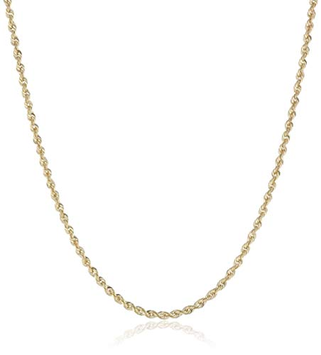 10K Gold Diamond Cut Rope 1.5MM - 4MM Gold Chain Necklace For Men And Women- 16-30, Lobster Clasp, Twist Braided Jewelry Gadget, Perfect For Pendants, 16-30 Inch… 2.5mm,22