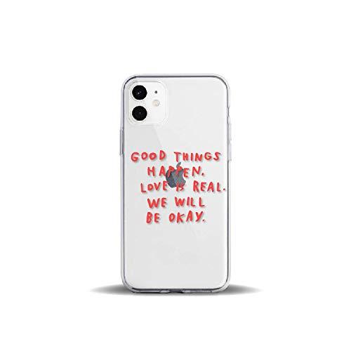 Positieve Quote Slogan Meisjes Rode Werelden Voor iPhone 11 Pro 7Plus 7 6S 8 8Plus X XS Max XR Zacht Helder TPU Telefoonhoesje, For iPhone 11Pro Max, 5 stuks.