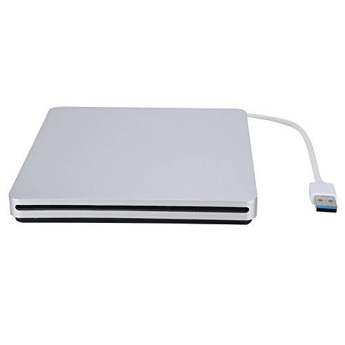 Controlador de CD de grabadora de DVD con ranura externa USB 3.0, compatible con transmisión de datos de 480 Mbps, estándar de interfaz SATA-I de 1,5 Gbps, para portátil   PC móvil   PC de escritorio