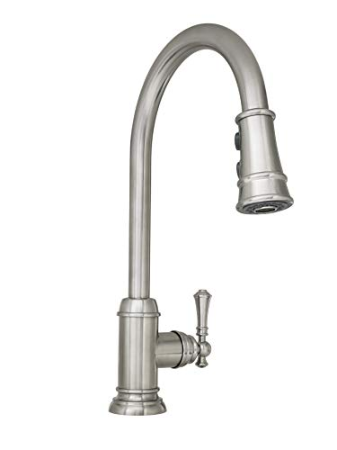 Mirabelle MIRXCAM100SS Amberley 1.8 GPM Single Hole Pull-Down Kitchen Faucet - Includes Escutcheon