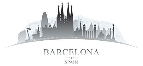 Wandtattoo Wohnzimmer Skyline Wandsticker Eindrucksvolle Skyline von Barcelona