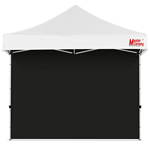MASTERCANOPY Instant Canopy Tent Sidewall for 10x10 Pop Up Canopy, 1 Piece, Black