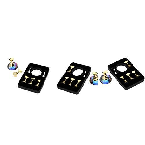 Milageto 15 Piezas de Soporte de Exhibición de Punta de Uñas Magnética Herramienta de Entrenamiento