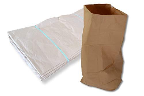 25 x Papier Müllsäcke - braun - 120 Liter - 700 x 950 x 220 mm - Papiersäcke/Papierbeutel