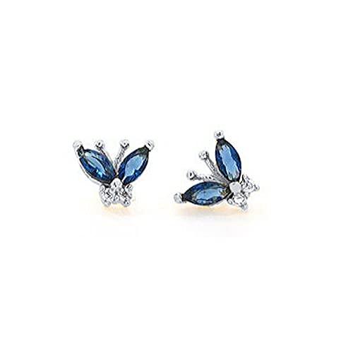 Pendientes Mujer Pendiente De Plata De Ley S925 Pendiente De Circonita Arcoíris Pendiente De Mariposa para Mujer Pendiente De Mujer Pendientes Brincos Jewelry Silver 1