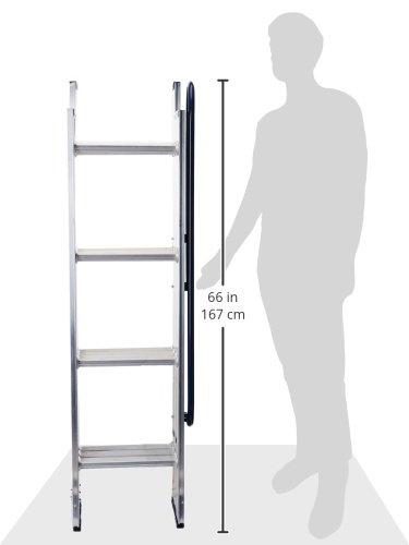 WERNER LADDER AA1510CA Al Attic Ladder, 7' - 9'10