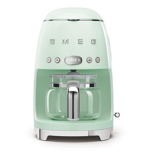 Smeg DCF02PGEU - Macchina da caffè con filtro programmabile, 10 tazze, 1050 W, verde acqua
