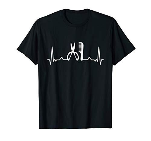 T-Shirt Friseur - Friseurin Herzschlag Haarschnitt Geschenk T-Shirt