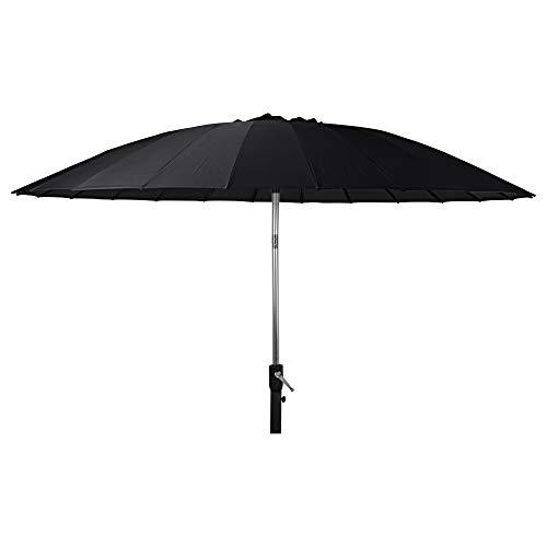 URBNLIVING Outdoor Garden Black Parasol Metal Umbrella Sunshade Patio Furniture Canopy