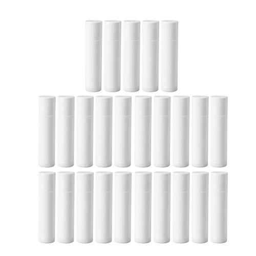 Frcolor 5ml leeren Kunststoff-Lasche Gloss Tube Lip Balm Flasche Container Pack von 25 (weiß)