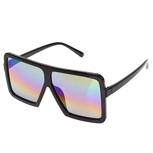 NJJX Gafas De Sol Cuadradas Planas Grandes Para Mujer, Montura Grande De Gran Tamaño, Deslumbrante, Gafas Unisex Para Conducir, Accesorios Para Automóviles, Color Negro