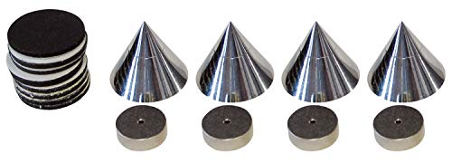 dynavox 204605 4x Boxenspikes Noisekiller Lautsprecher Absorber Spikes chrome
