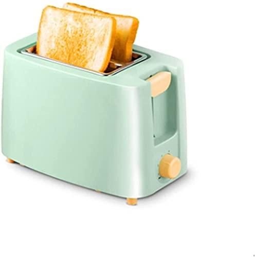 Mini Mini Household Toster Electric Pieczenia Chleb Maszyna Pełna Automatyka Śniadanie Maszyna Maker Trop Piekarnik 2 Plastry 680 W (Kolor: Green) (Color : Green)