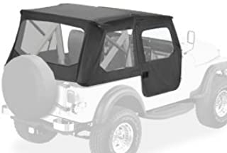 Bestop 51408-01 Black Crush Tigertop Complete Replacement Soft Top with Clear Windows; Includes Doors for 1976-1986 Jeep CJ-7