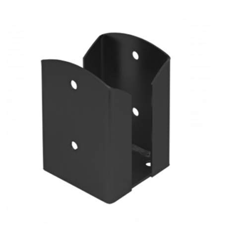 Black Decorative 100mm Square Deck Post Base Support Foot Pergola for 4' Post (Size: 102 x 102 x 150 x 2.5mm)