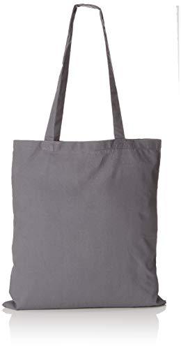 Westford Mill - Baumwoll-Tragetasche mit langen Henkeln One Size,Graphite Grey