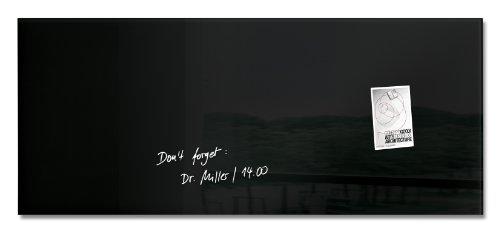 SIGEL GL240 Tableau magnétique en verre, 130 x 55 cm, noir - Artverum