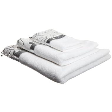 Popular Bath Phoenix Silver 3-Piece Towel Set