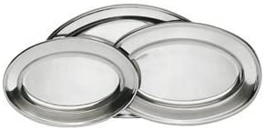 Stainless Steel Serving Platter shop Sizes Assorted At the price of surprise 3-Pack Set