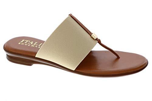 Italian Shoemakers Women s Afia Sandal (8.5  Natural)