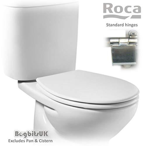 Roca Laura A8013U0004 Ersatz-Toilettensitz mit Standard-Scharnieren, Weiß