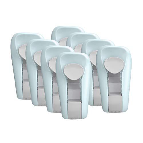 CMOM Bettdecken Clips Set, Bettdeckenclips Bettdeckenhalter Universelle Halter Clips für Verhindern Bunching Verschiebung Bettdecke Duvet Cover Clips für Houseware Bett Clip Tröster (Blau, 8 Stück)
