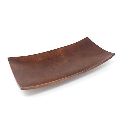 Trendy Wood & Light Kanu Dunkelbraun Holzschale Dekoschale Holz Schale Deko Dekoartikel (Dunkelbraun)