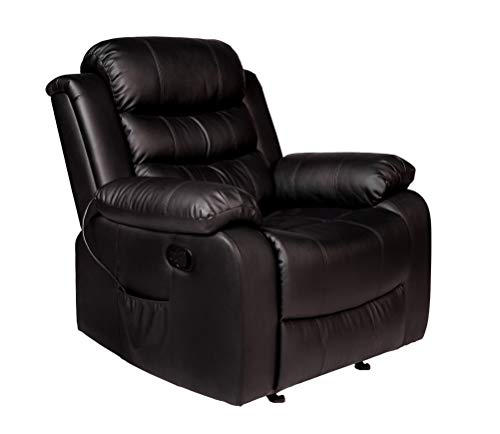 RelaxZen Oscar Massage Recliner, Black