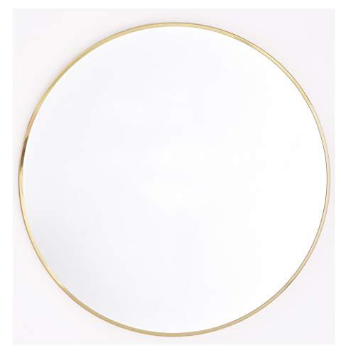 Innova Home Isla Wandspiegel, rund, 40 cm, rund, Messing, messing, 40 x 40 cm