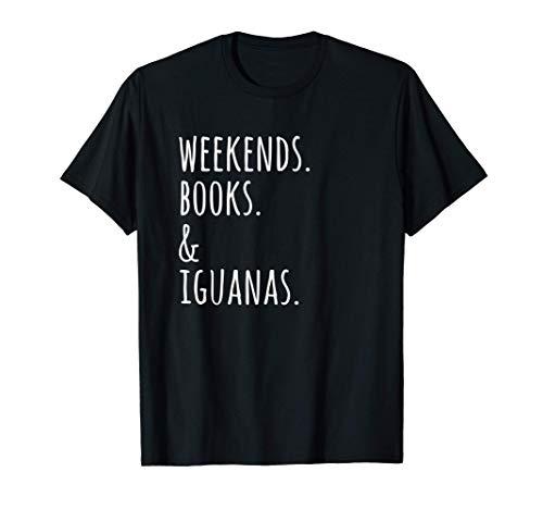 Fines De Semana Libros Iguana Mascota Camiseta