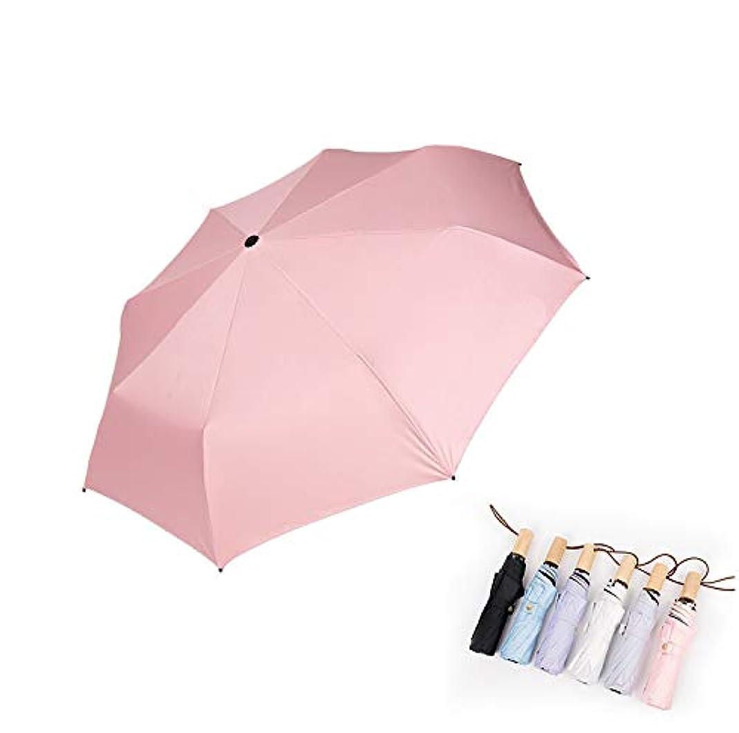 渦キャプテン条約日傘 uvカット 100%完全遮光折りたたみ傘 レディース/男性折り畳み傘 軽量 晴雨傘 シンプル 折れにくい 濡れない 晴雨兼用 遮熱 耐風 単色 収納ポーチ付き おしゃれ(ホワイト)