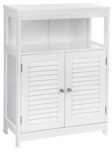 VASAGLE Bathroom Storage Floor Cabinet Free Standing with Double Shutter Door...