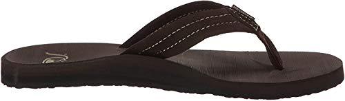 Quiksilver Men's Carver Suede 3-Point Flip Flop Sandal, Demitasse/Solid, 11 M US