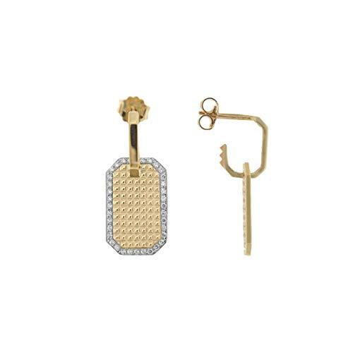 Mono Earring Rue des Mille Golden Textur Studs