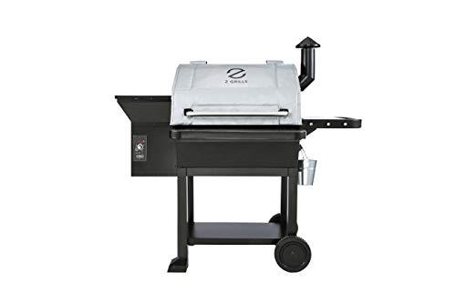 Z GRILLS ACC-IBF1000S Wood Pellet Grill & Smoker, 8 in 1 BBQ Grill Auto Temperature Control, 1060 sq in Silver