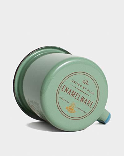United By Blue - Emaille-Stahl-Kaffee-, Tee- und Suppentasse, 340 ml | Reisen, Camping, Herbst und Winter – Herd & spülmaschinenfest (Salbei).