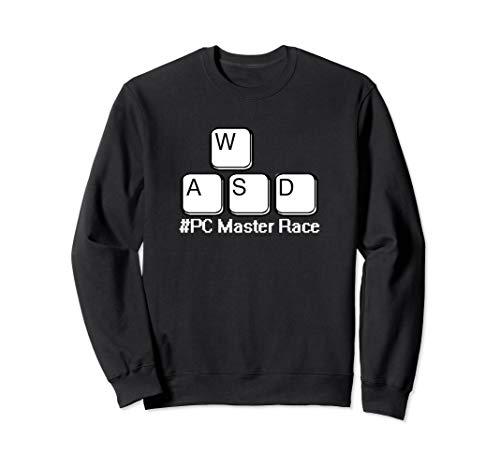 WASD PC Master Race Keys #PCMasterRace funny Gaming PC Gamer Sweatshirt