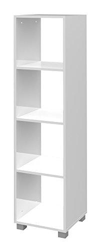 Schildmeyer 131644 Regal melaminharzbeschichtete Spanplatte, weiß, 33 x 36 x 143 cm