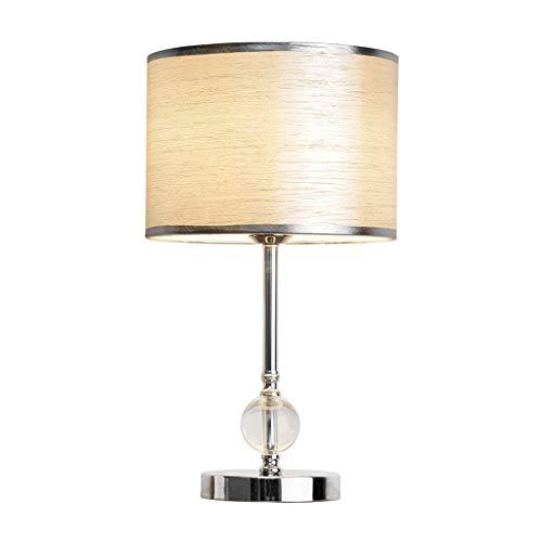 Xwyun Lámparas de mesa de cristal europeas modernas LED regulables para mesita de noche, dormitorio, sala de estar, decoración de mesa, lámparas de noche, luces de mesa E27 (25 x 46 cm)