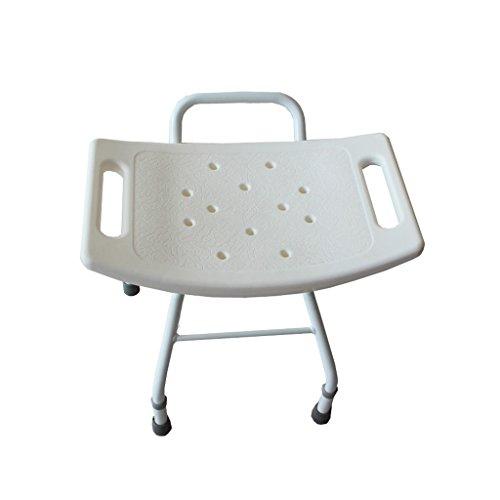 NYDZDM Duschhocker mit gepolstertem Sitz, Duschsitz for Senioren, Senioren, Behinderte, Behinderte oder Heimathelfer Weiss
