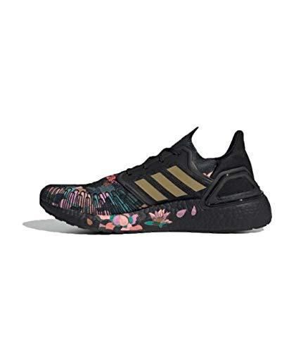 Adidas Ultraboost 20 Unisex Running Shoes Black EU 37 1/3 UK 4.5, Core Black / Gold Met. / Signal Coral, 7.5