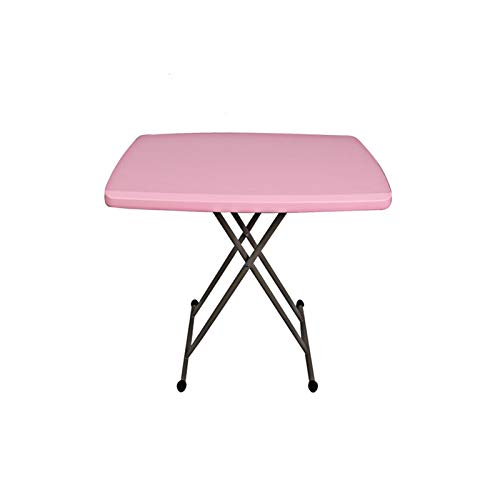 Laptop Desk Cart Sturdy And Durable Folding Trestle For BBQ Picnic Party -Catering Camping Table- Ideal For Tea Coffee Snacks Breakfast Lunch Dinner Games And Laptop Portable Table 80x80 X (46-74) Cm-
