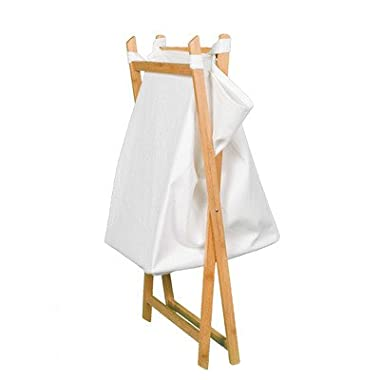 BirdRock Home X Bamboo Hamper | Made of Natural Bamboo | Includes Machine Washable Cotton Canvas Liner | Lightweight for Easy Transportation