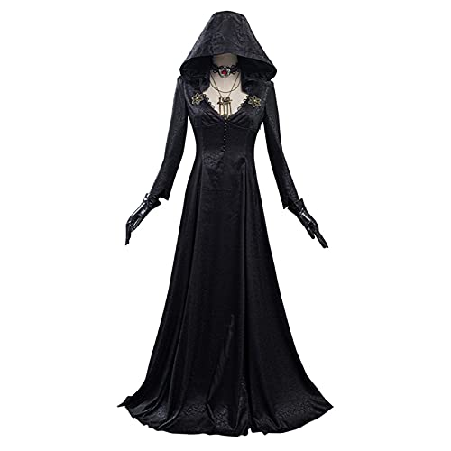 Dorf Cosplay Kostüm Vampir Dame Kleid Outfits Halloween (Color : A, Größe : S)