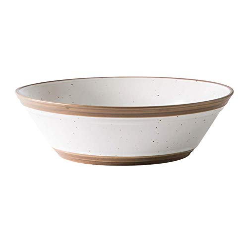 Japanese Creative Home Salad Bowl, Noodle Bowl, Ceramic Personality Mixing Bowl (Color : Set Of2)